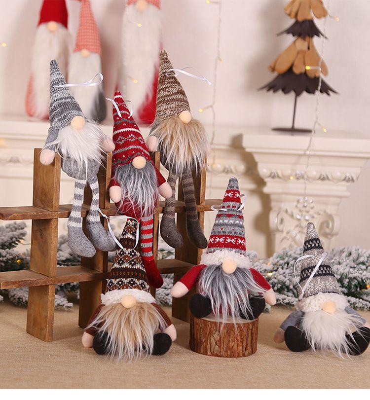 Doll Ciondolo Natale Buon Natale decorazione dell'albero di Natale 2020 decorazioni per la casa natale Natale regalo Felice Anno Nuovo 2021