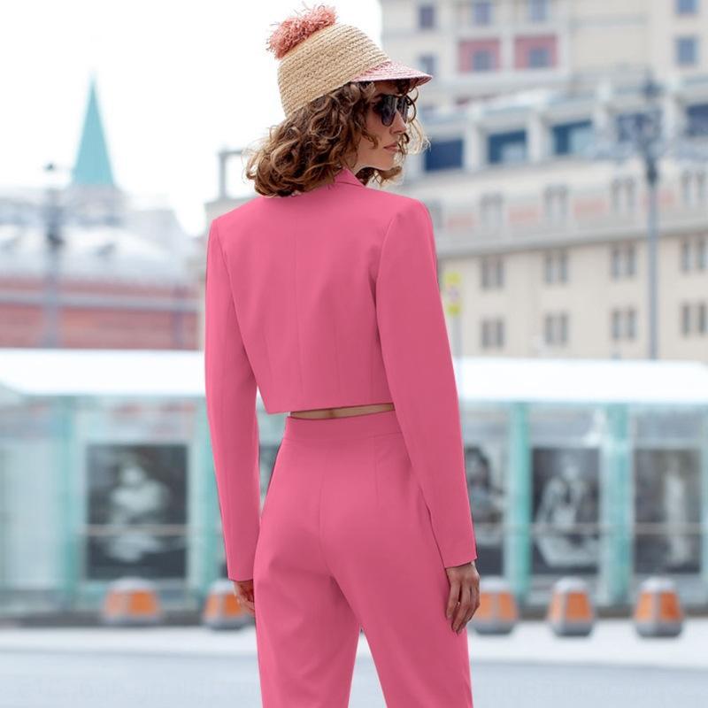 LyNHI bSNVg 2019 Automne / Hiver Nouveaux ins femmes de la rue à double boutonnage manteau court occasionnel 2019 Nouveau Femme Automne / Hiver costume manteau petites ins rue