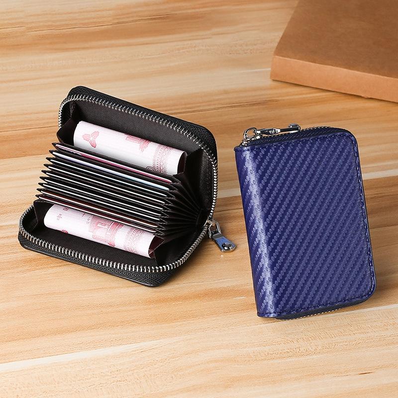 Nouveau modèle japonais portefeuille mat herbe sac de carte d'organes des femmes en fibre de carbone de la carte portefeuille super fibres de cuir de porte-monnaie