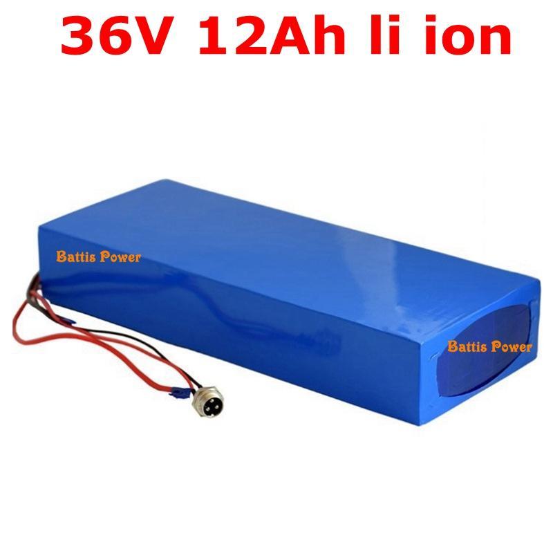 Batteria litio di 36V 12Ah agli ioni di litio pacchetto 15A BMS per 350W motore bicicletta elettrica 36v250w 500w + Charger
