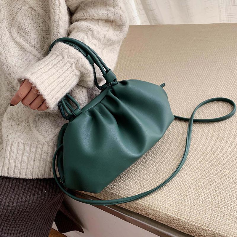 Solid Color elegant Umhängetaschen für Frauen Kleine Clutch Weibliche Partei-Handtaschen und Geldbörsen Lady Schulter Messenger Bag