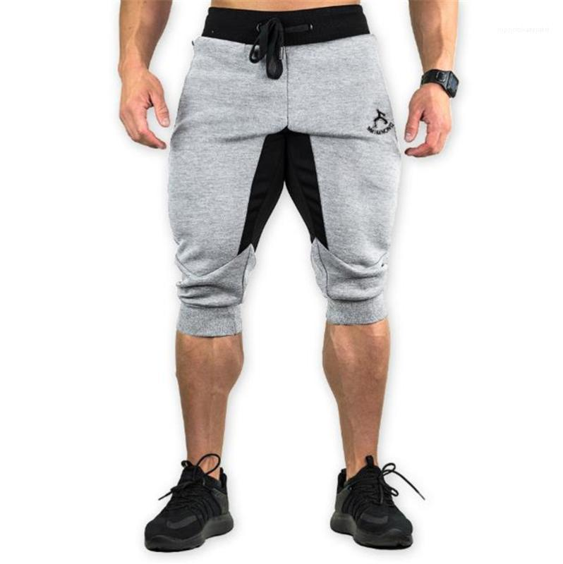 Drawstring Male Clothing Fitness Luxury Mens Shorts Patchwork Printed Knee Length Beach Mens Short Pants Sports