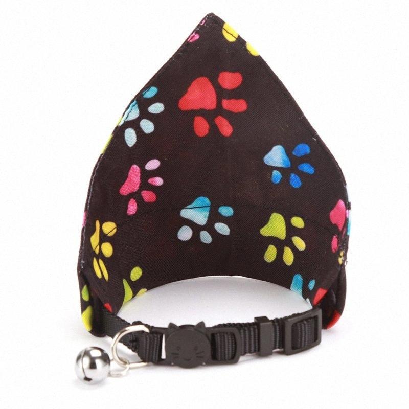 Patrón Pañuelo para perros gato baberos de la pata Bufanda collar ajustable para mascotas Pañuelo linda bufanda de saliva de la toalla impermeable para JbZz pequeño perro #