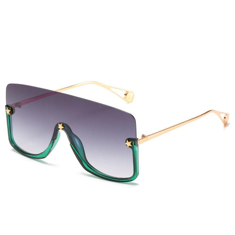nuevo diseño ultra grande gafas de sol de la cara cubierta de copas de moda de moda gafas de sol de las mujeres grandes pasarela