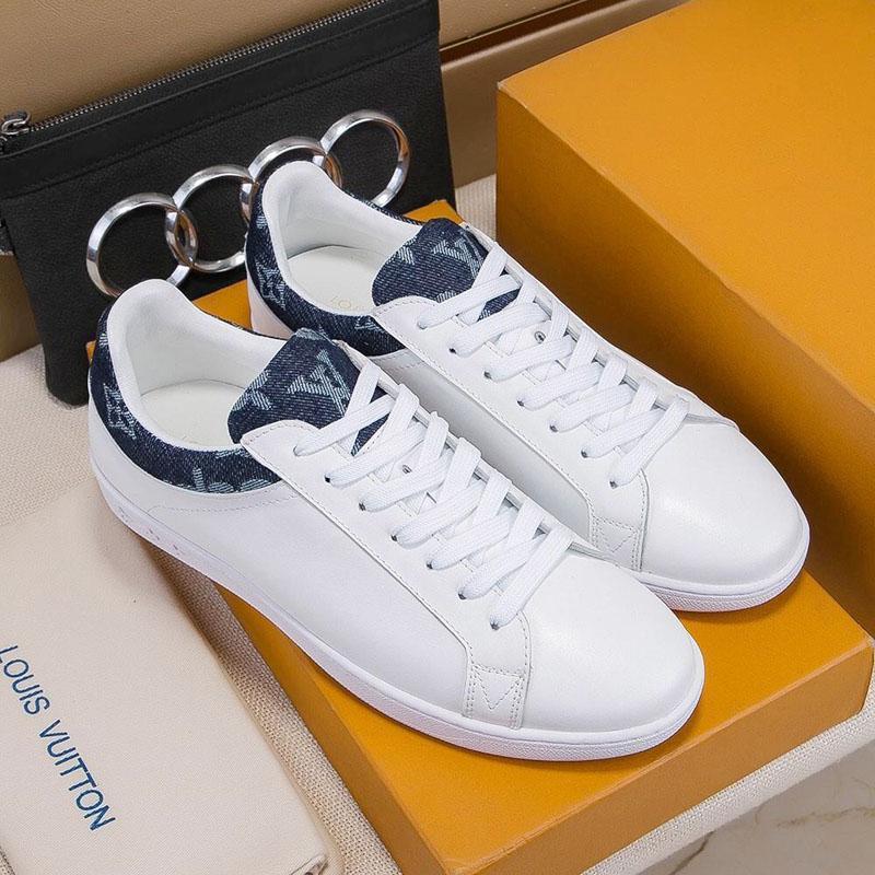 2019c Famous lusso Piattaforme tendenza casuale scarpe sportive Top Mens qualità delle scarpe casuali Mens il cuoio genuino scarpe sportive stringate di EUR 38--44