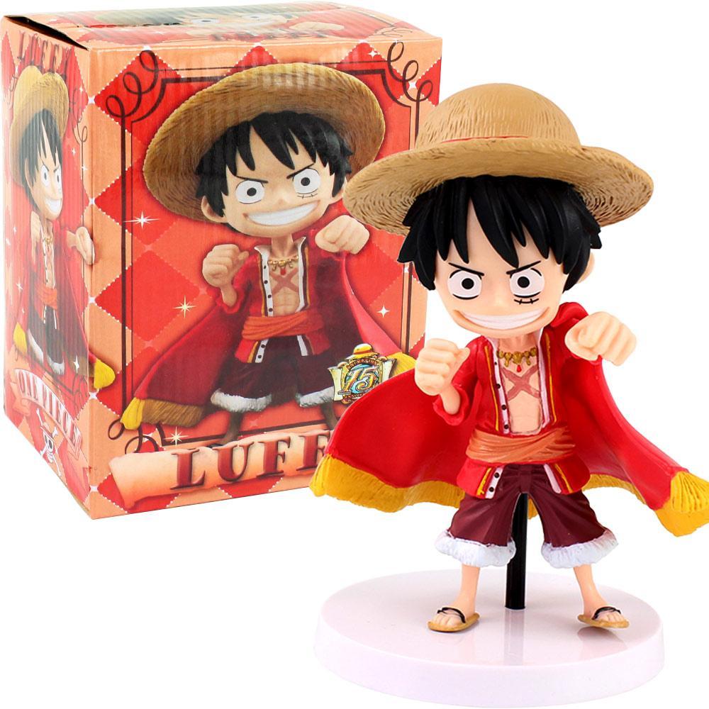 15см аниме один кусок Q версия Luffy Действие Рисунок Juguetes фигуры коллекционные модели игрушки игрушки рождественские