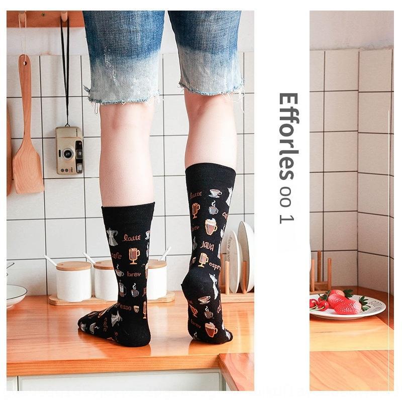 j8J4X tubo di tendenza calzini di cotone-alte calze calze da uomo di strada di scuola media calzini paio pattino delle donne di alta tubo 5 paia di ins