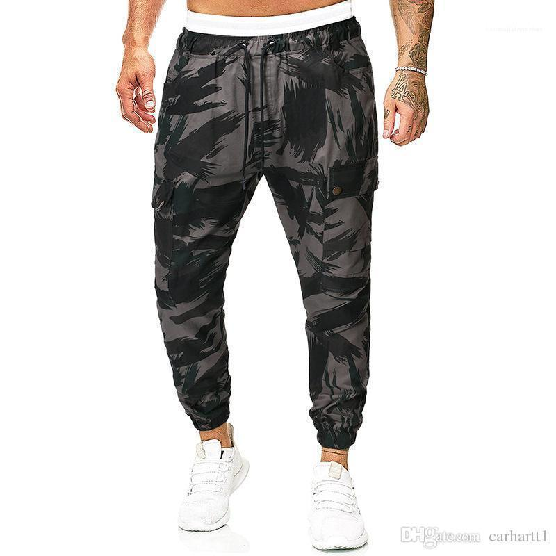 Más el tamaño de ropa para hombre macho pantalones del diseñador de moda Impreso Hombres lápiz pantalones casuales de lazo Adolescente pantalón