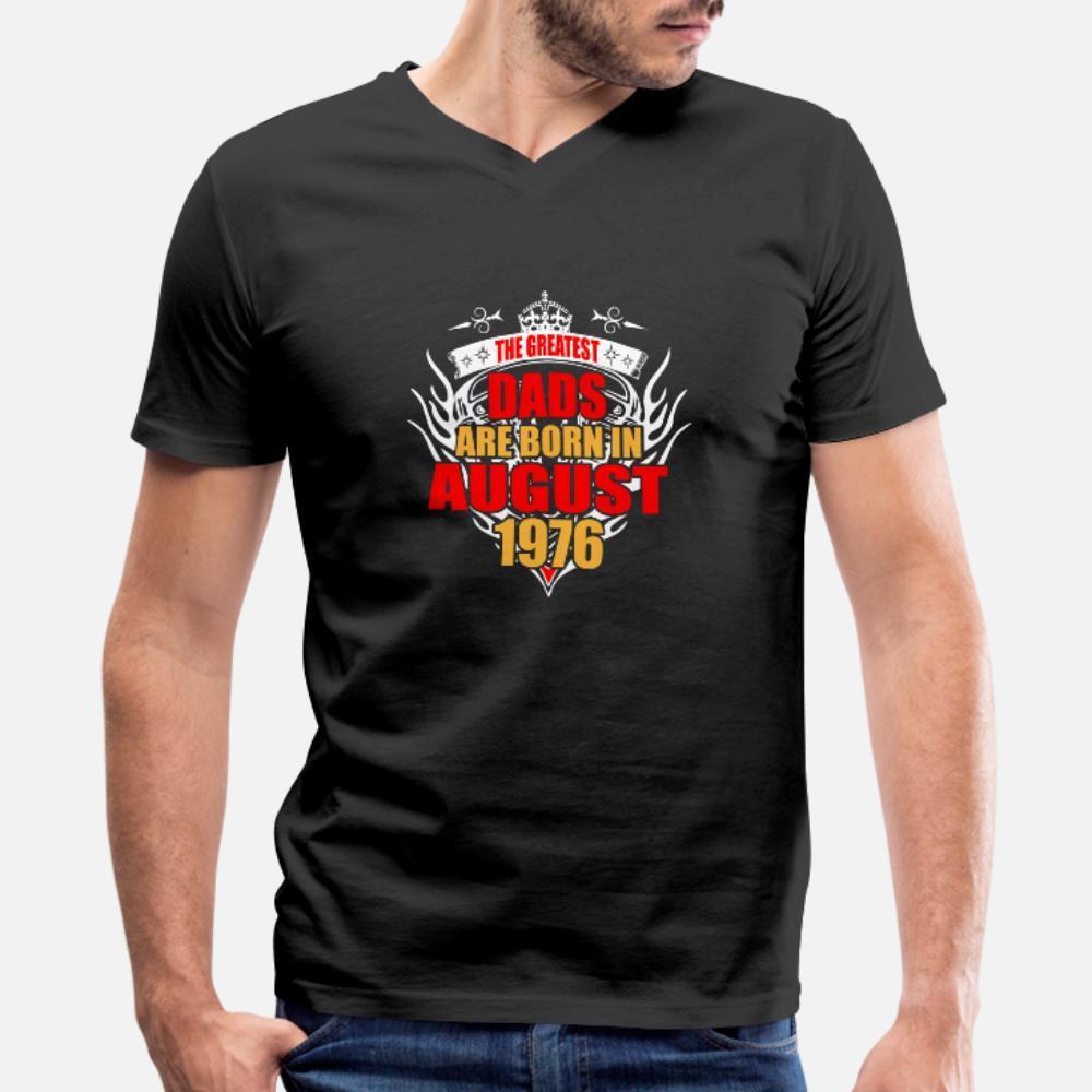 Los papás más grandes nacen En agosto de 1976 camisa de hombres de la camiseta 100% algodón Personalizar S-XXXL Ropa gráfico nuevo de la manera del resorte de Kawaii