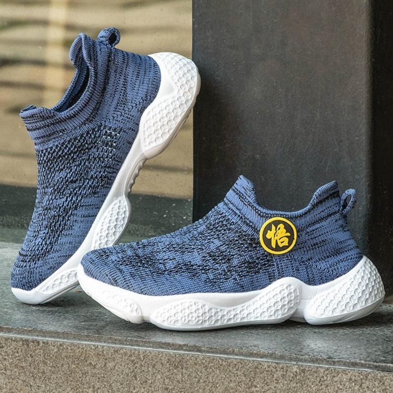 Kids Sock Running Shoes Fashion Breathable Lightweight Mesh Sneaker For Girls Boys Tenis Infantil Basket Footwear Casual Walking