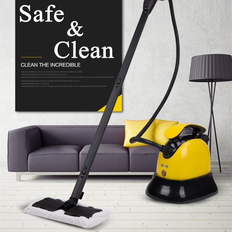 Warmtoo 가정용 전기 스팀 청소기 걸레 핸드 헬드 바닥 창 와셔 걸레질 빗자루 진공 청소 기계 220V EU
