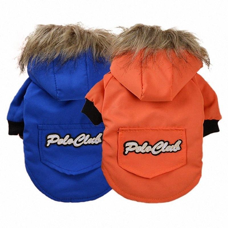 Nuovo Inverno Pet Dog cucciolo del cappotto del rivestimento ispessimento caldo Puppy Dog Clothes Hoodie Costume Cani di piccola taglia Outwear FCS #