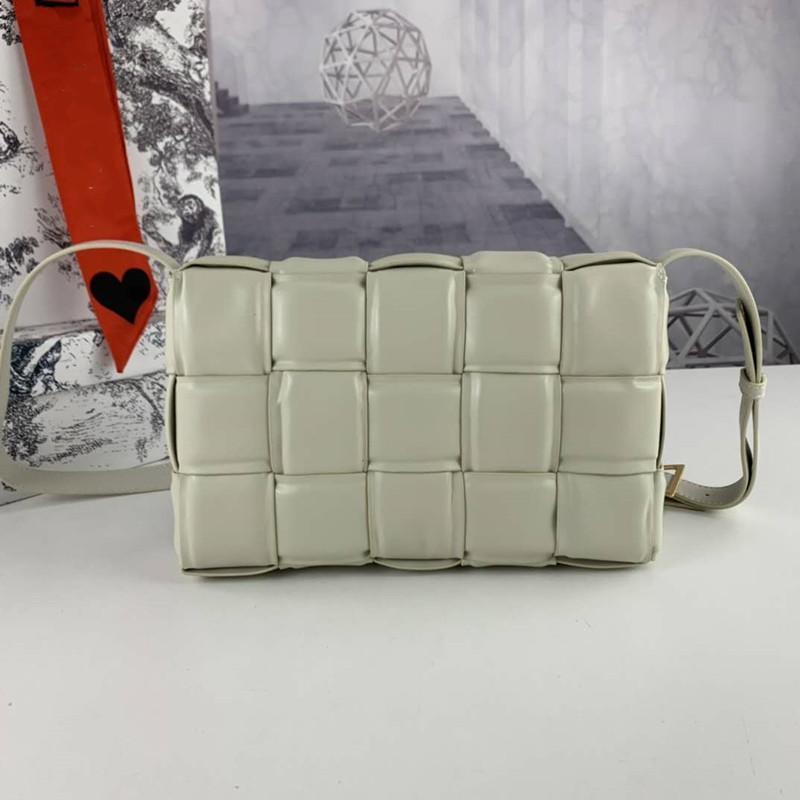 Yeni Stil Deri Buzağı Yastıklı Bayan Bayan Kayışı Çanta Kaset Crossbody Çanta Moda Gerçek Çanta XNPKS Içinde