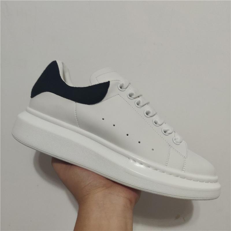 Drop Shipping velours noir Chaussures Casual Femmes Hommes lacent tendance Entraîneur cuir solide plate-forme Chaussures plates Chaussures