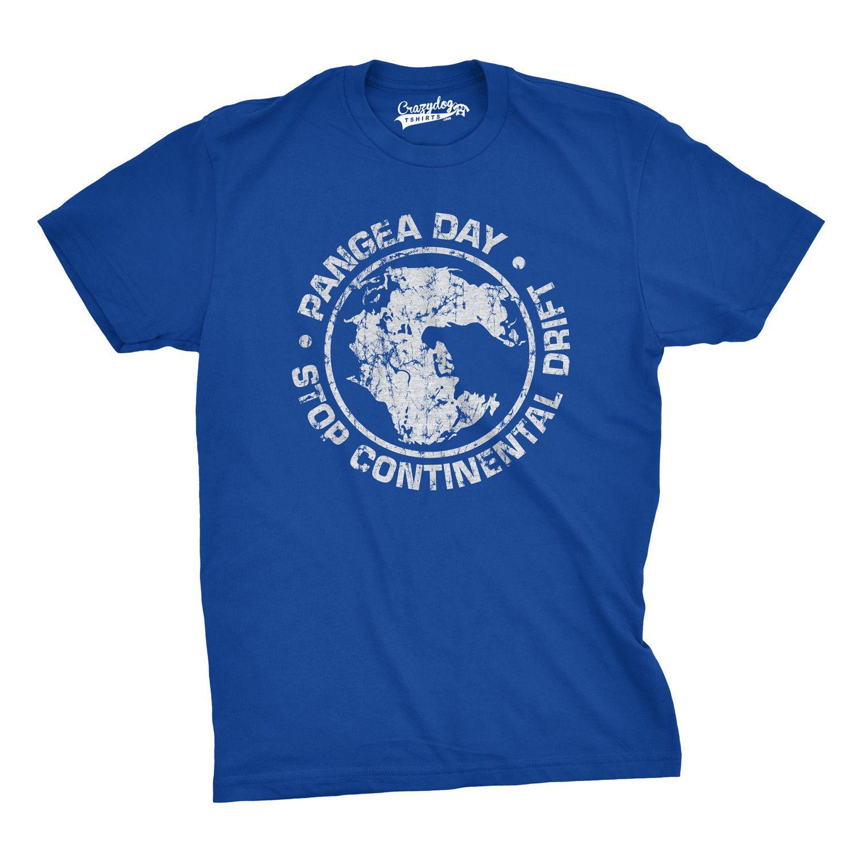 2019 été nouveau jour fraîche T-shirt Pangea Arrêtez la dérive des continents T-shirt - drôle Géographie shirt Coton T-shirt