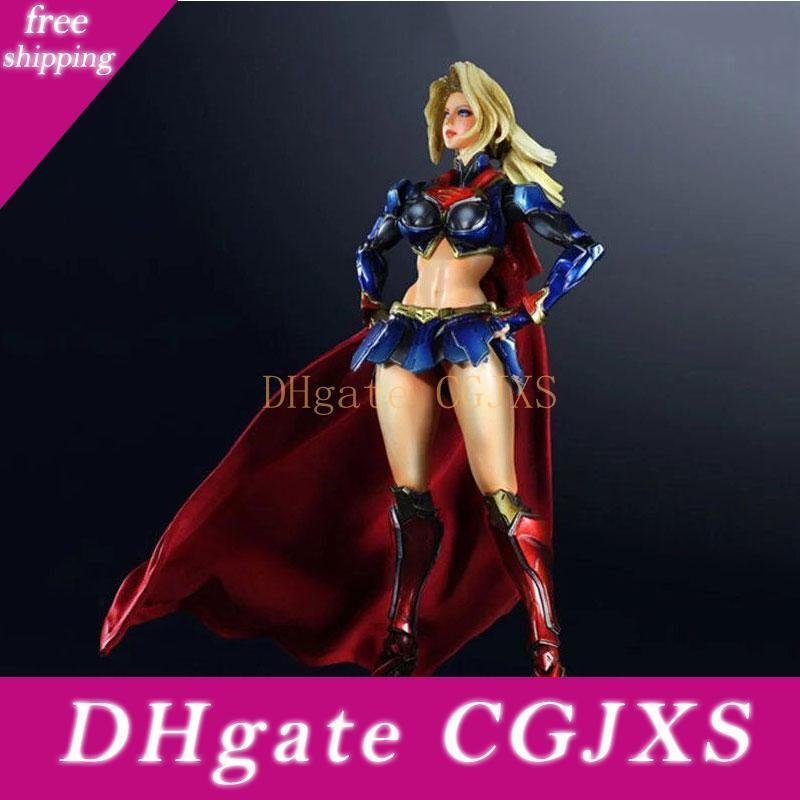 Supergirl Action Figure Playarts Toys Anime Movie Woman Collection Model Play Arts Kai Doll Juguetes
