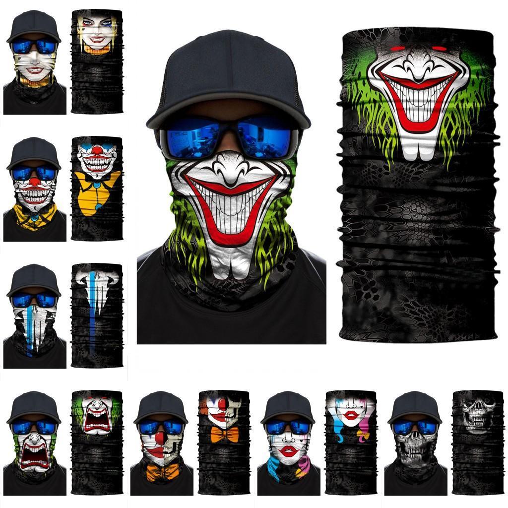 DHL-freie Halloween-Skelett-Gesichtsmaske Schal Joker Stirnband Balaclavas Schädel-Maskerade-Partei-Schablonen-Motorrad-Fahrrad Fischen FY6098