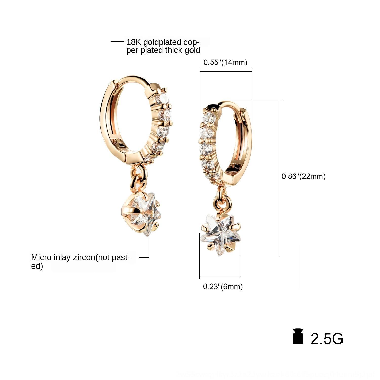 1aecx OPK микро-инкрустированного циркон звезда женщин кулон кулон и серьги гальванического золота Корейского ювелирных изделий серьги
