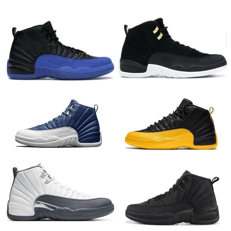 Basketball Shoes 12s Indigo Dark Concord University Gold Reverse Flu Game Reverse Taxi Game Royal FIBA 12s Dark Grey Sneakers trainer
