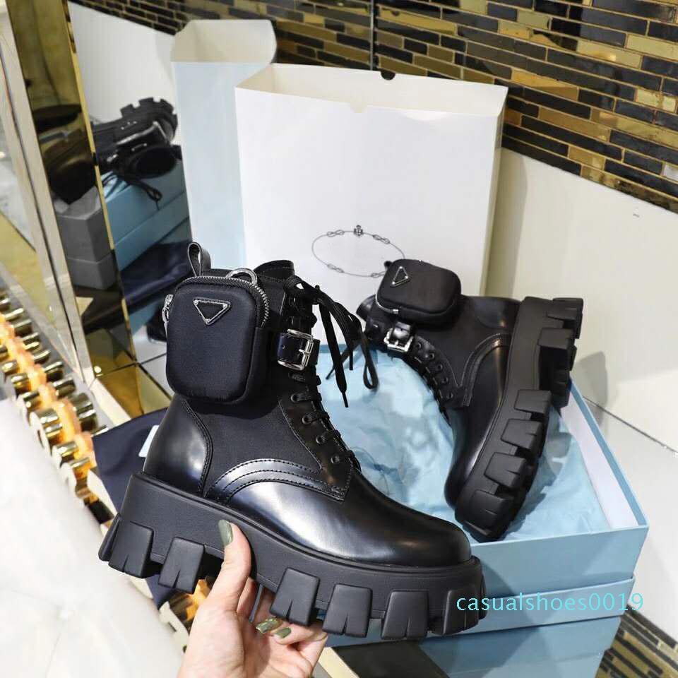 Klasik Avrupa tarzı kadın Ayakkabı, ladies'shoes Martin Boots, Çanta dekorasyon Motosiklet Bilek Boots, gerçek deri seksi çizmeler Lastik c19
