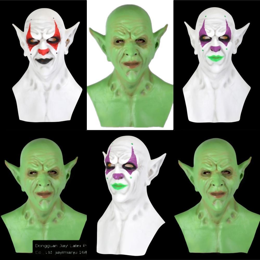bnfPu Gerçekçi Ürpertici Ghastful Komik Joker Korkunç Palyaço Maske Kostümler Malzemeleri Kızıl Saç Korkunç Lateks Pennywise Palyaço Maskesi