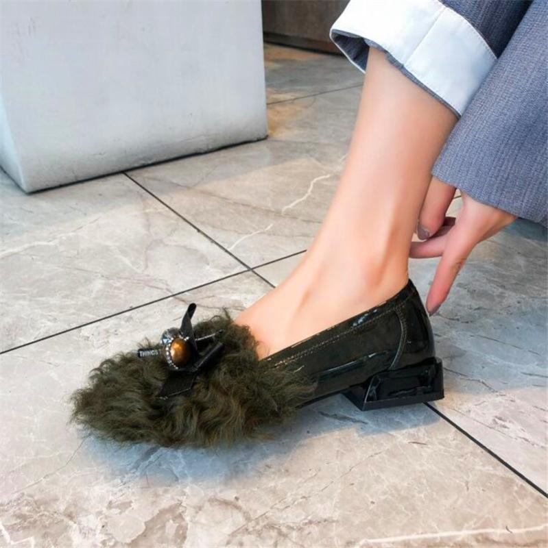 Nouveau mode sexy noir hauts talons femmes en cuir bal chaussures habillées chaussures amant talon haut féminin unique de la fourrure
