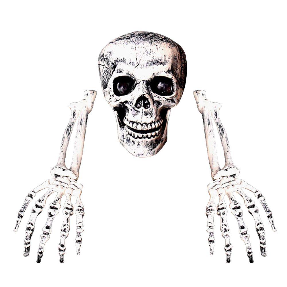 Estaca Festa de Halloween Decoração Prop cemitério ornamento-do-chão Ossos de esqueleto