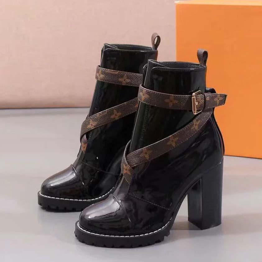 Talones de las obras clásicas botas de moda y exquisito para mujer botas altas y cuero genuino Aire libre botas de moda Martin Vaquero sh09 L36