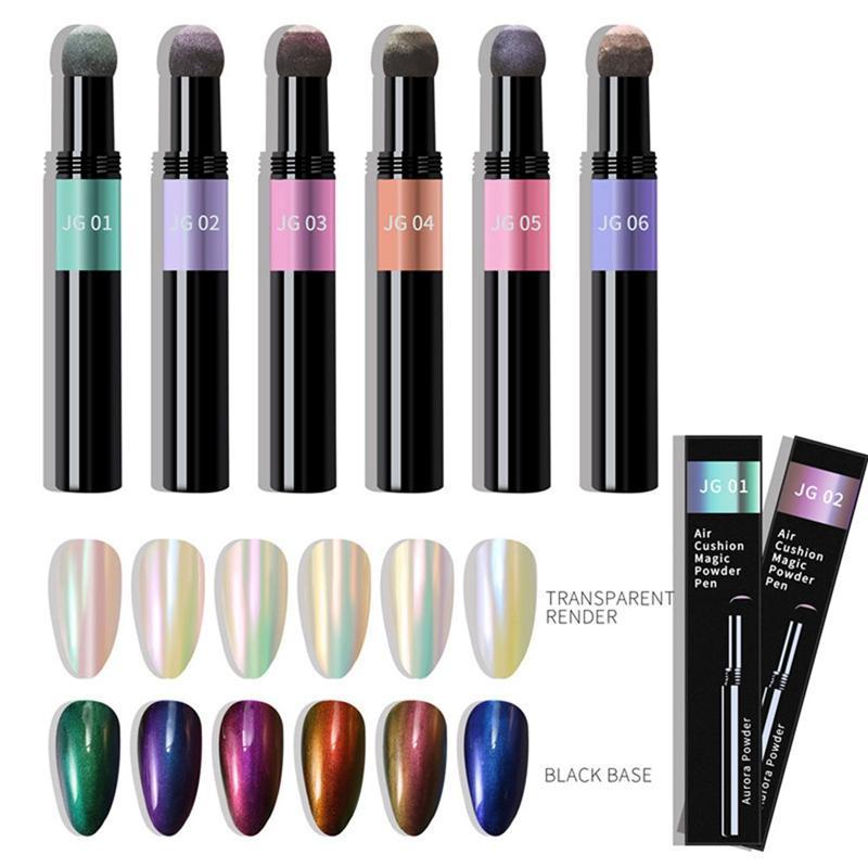 NAB003 ongles poudre Coussin Pen Laser Miroir Aurores Nail Art Glitter muticolor Chrome Holographics Nail Art Accessoires 0,5g