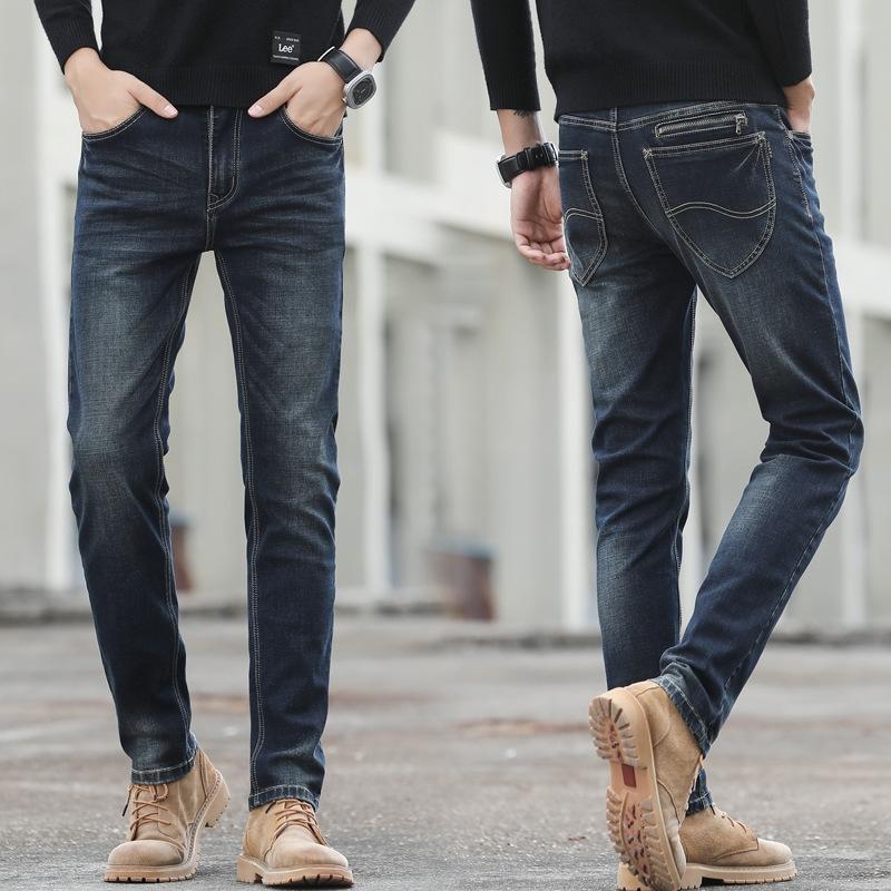 03nf7 occasionnels hommes 2020 et nouveaux jeans hiver pantalons jeansjeans pantalons automne mince d'affaires droite Vx jeanscasual étirent glissière au dos 628 Vxpd