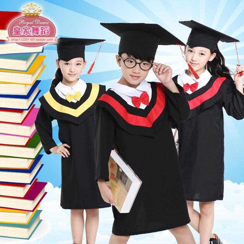 QEQ2j Kinder Student Abschluss Doktor Kleidung Kindergarten Schulkinderkleidung Student Kleidung fu Graduierung Doktor primärer