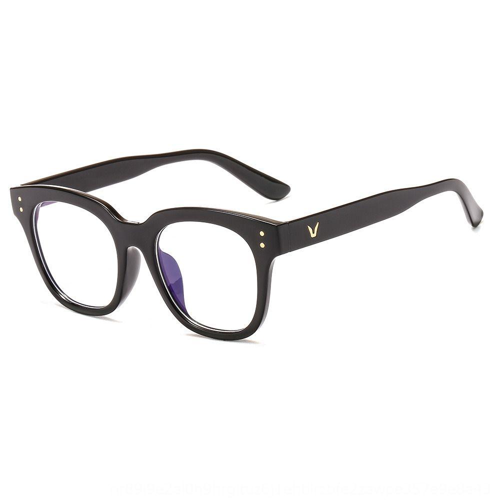 New ins TikTok com vidros de metal dobradiça moda moldura quadrada óculos simples z3330 homens quadro m unhas das mulheres
