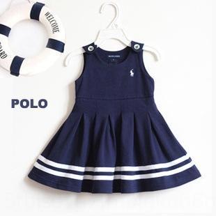 Été Nouveau Polo Filles 'Blockyle Summer Nouvelle robe Polo Filles' Blockyle Robe 2HFMV
