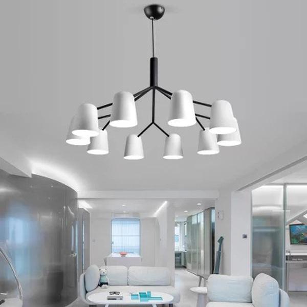 Simple style nordique Ambiance moderne Accueil Salon Lampe Suspendue Personnalité Creative Chambre Salle à manger Lamp Chambre