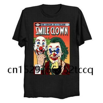 мода майка мужчин Улыбка клоуна The Odigin Of Vilian Joker Bsatwen Black Jofaquin Phoenix Hombre моды Mens T Shirt