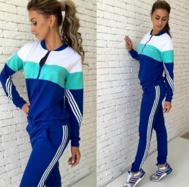 Damen-Hosen-Anzug Letter Print Sweatshirt + Pants zweiteiliger Satz Frauen Jogging Sport Anzug für Damen Freizeit Anzug Sportkleidung