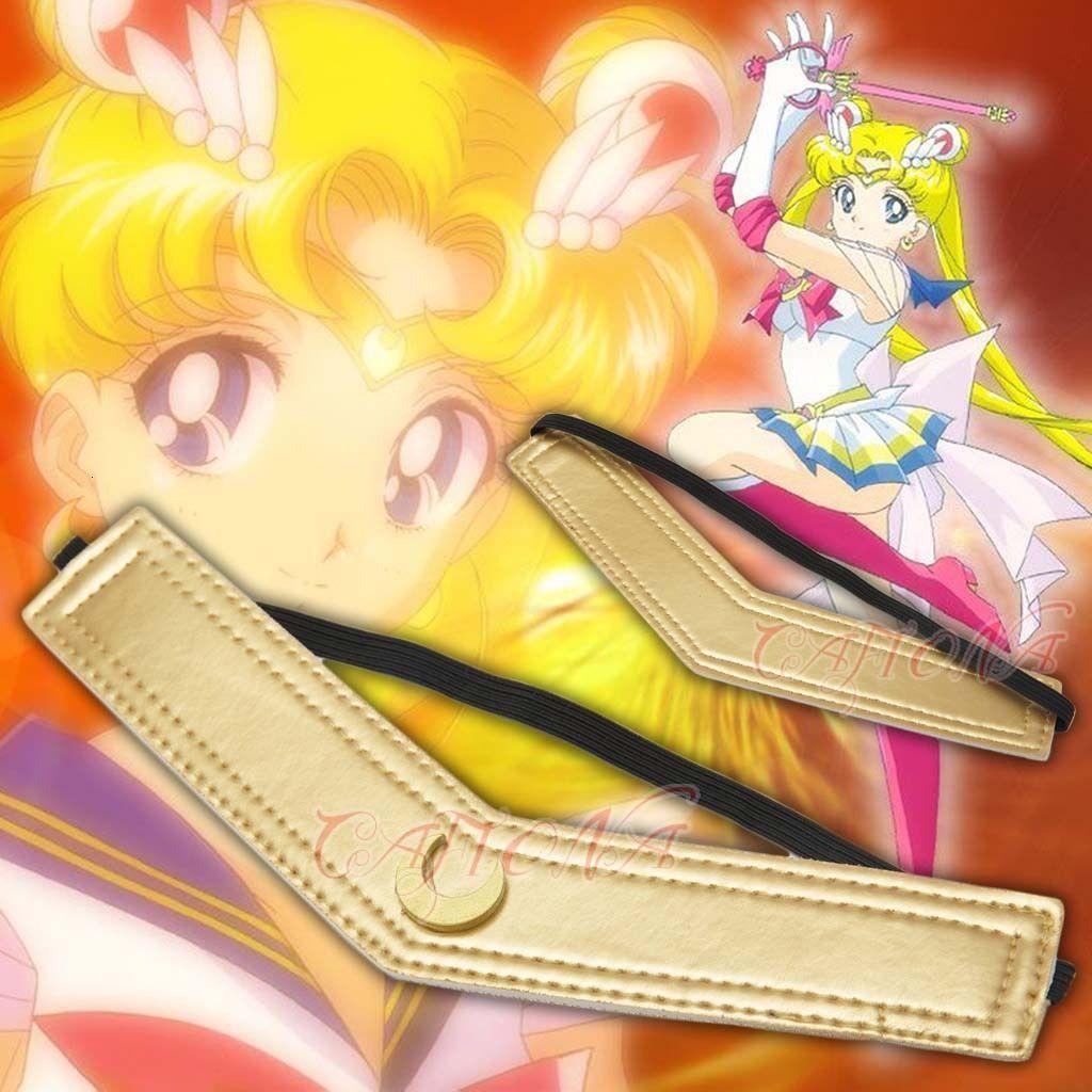 Cafiona Sailor Moon Tsuking Usagi Princ Serenity Cosplay Costume Accories Headband Lovely Girls