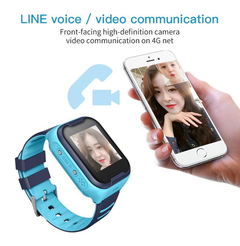 Kamera Sıcaklık Ölçümü WIFI GPS Konumlama Destek Simkart Smartwatch Çocukları ile 2020 Kid Akıllı İzle Torntisc