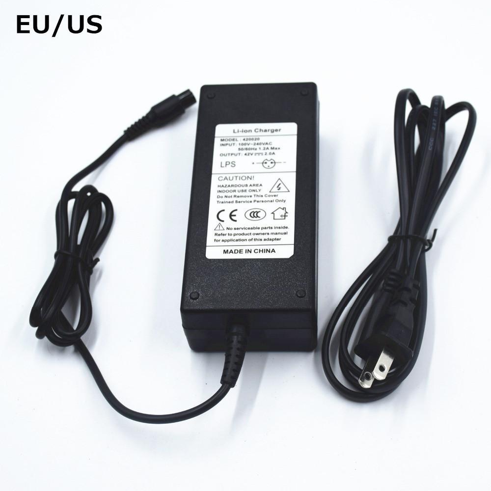 EU / US 42V 2A 충전기 호버 보드 스케이트 보드 충전기 36V 리튬 이온 배터리 전원 공급 어댑터 자체 균형 스쿠터 충전기 42V