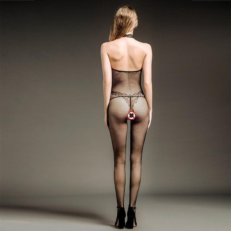 KNPPS Sexy sexy Seidenstrümpfe Frauen Hals einheitliche Versuchung Silk Socken Spitze-Spitze Größe backless einteilige 8213 Netz