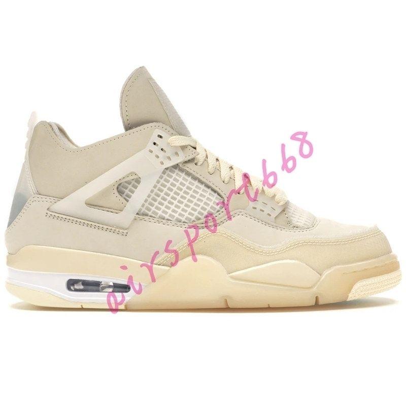 SE vela blanca x NUEVA 4S Jumpman baloncesto 4 zapatos rasta púrpura neón Travis Scotts dril de algodón de las zapatillas de deporte para hombre negro de Estados Unidos 7-13
