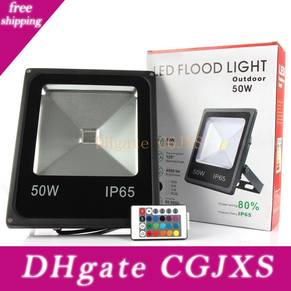 Наружное освещение 10w 20w 30w 50w RGB LED Прожектора водонепроницаемых привели наводнения света ландшафт Бра Ac 85 -265v Ce Ul Dlc