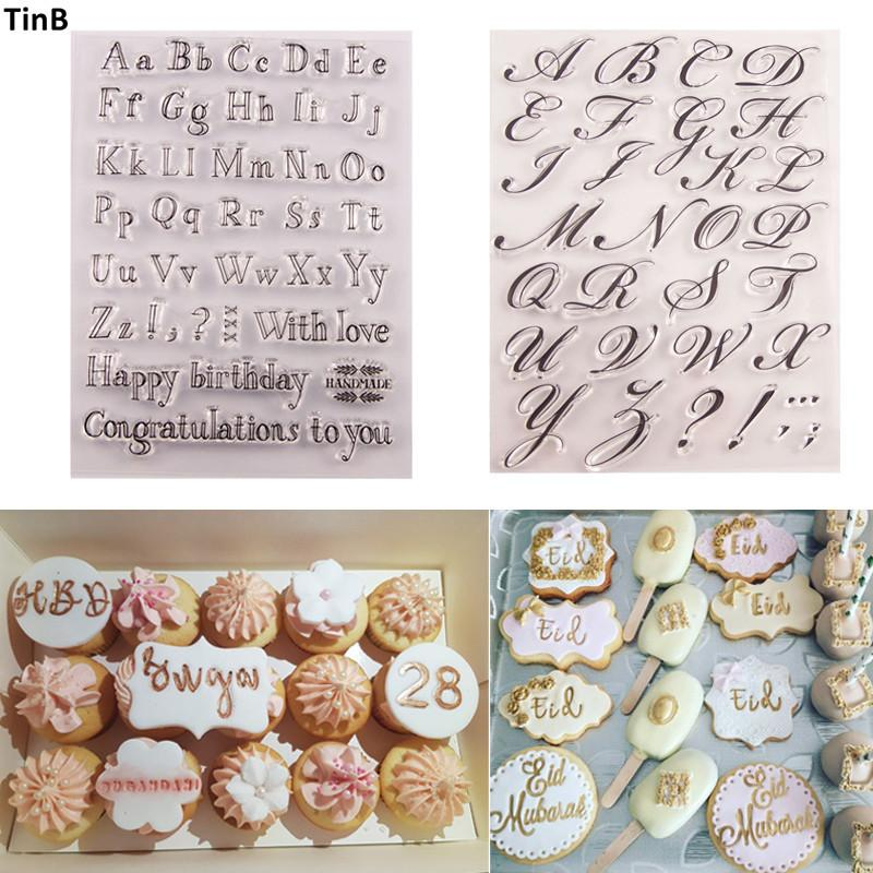 Cake Tool Letter Alphabet Cookie Cutter Embosser Stamp Sticky Decorating Sea Horse Christmas Fondant Cutter Tools