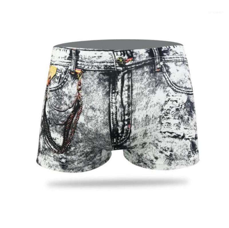 Designer Sexy Breathable Mens Underpants Plus Size Male Unterwäsche Dollar Jean Printed Herren-Unterwäsche Mode
