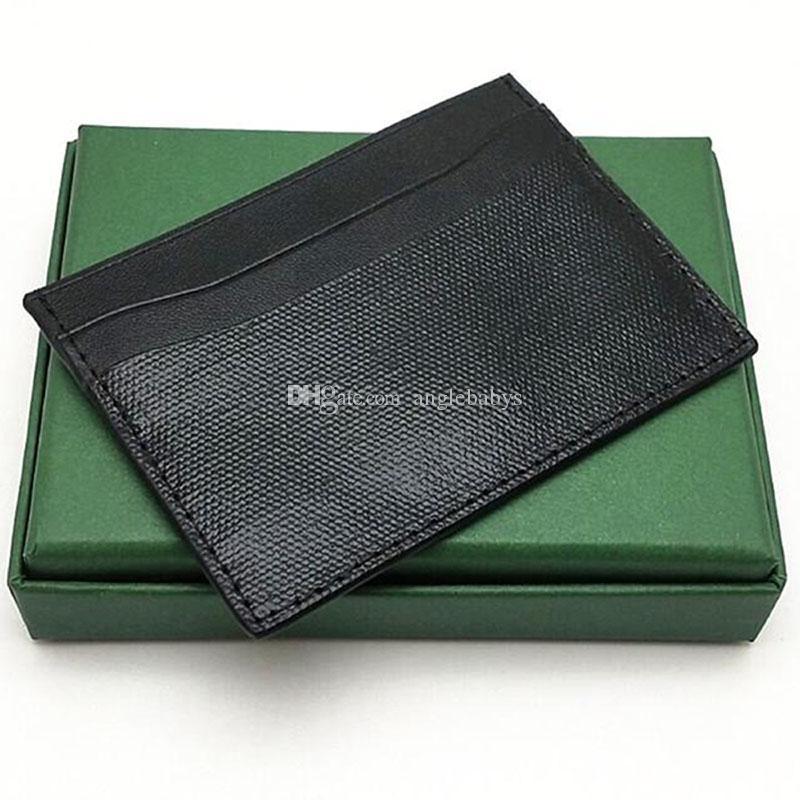 Top carta di credito delle donne degli uomini di qualità Holder Classic Designer Holder Mini Card Banca Piccolo Slim borsa del portafoglio addebbitato Box