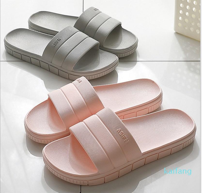Heißer Verkauf-Kunststoff-Hausschuhe Blau Badezimmer Dusche Slipper Schuhe