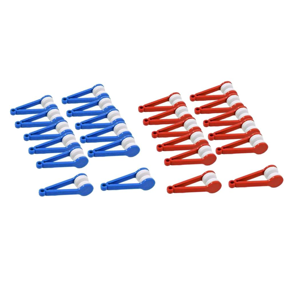 24 Pcs Eyeglass Microfiber Spectacles Cleaner Soft Brush Cleaning Tools