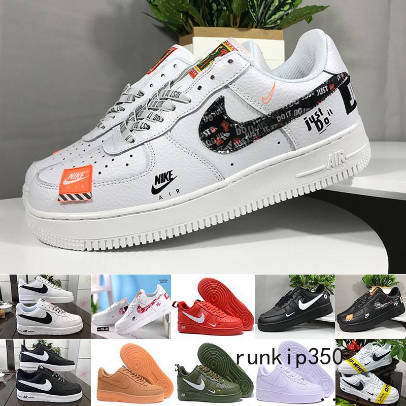 Nike Air Force 1 One Af1 CORCHO alta calidad para MenWomen alta calidad una 1 zapatos escotados ocasionales de Todos Blanco Negro Casual Color zapatillas de deporte Tamaño de EE