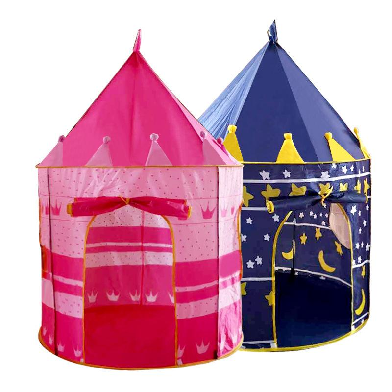 80pcs/lot Ocean Ball Play Tent Baby Ball Pool Tipi Tent for Kid Pink Blue Children Tent Play House Toy Tents Easy Babysitter LJ200923