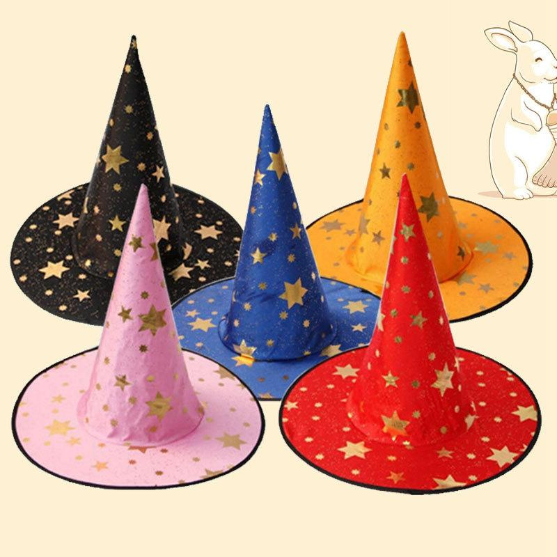 Kids Children Witch Hats Wizard Hat Halloween Cosplay Costumes Props Hat Halloween Party Decoration Cool Wizard Hats 6 Colors DBC BH3985